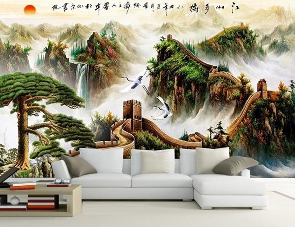 Gach Tranh Op Tuong Phong Khach 3d 3