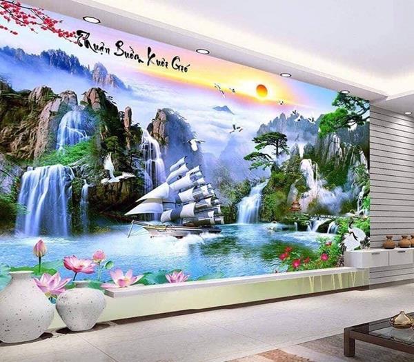Gach Tranh Op Tuong Phong Khach 3d 7
